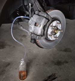 Brake Bleeding, brake fluid resevoir